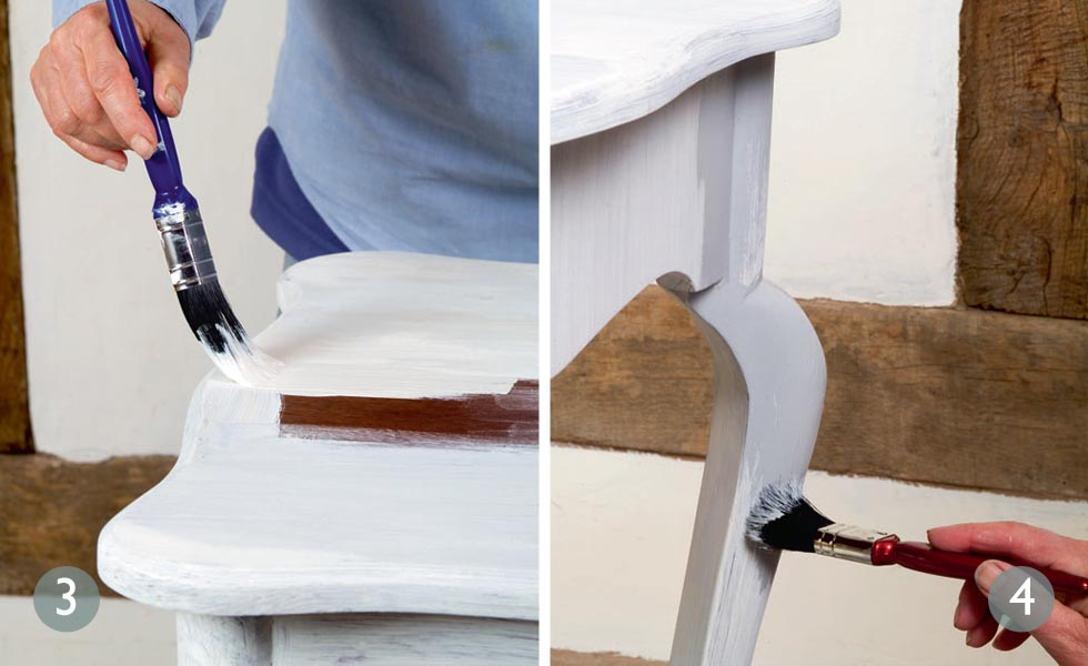 Creating a French country look paint effect steps 3 and 4