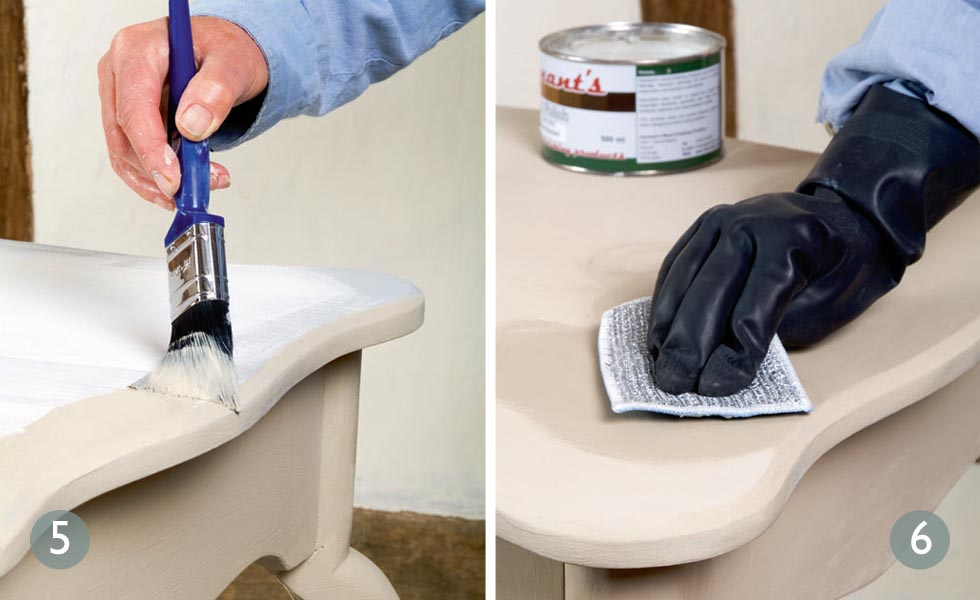 Creating a French country look paint effect steps 5 and 6