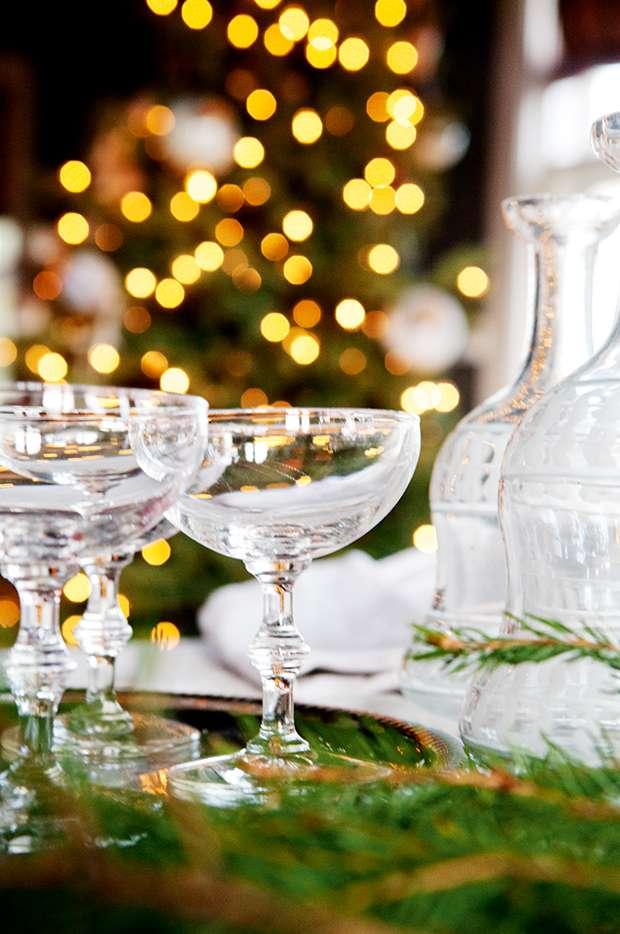 Glasses in Christmas Norwegian cottage