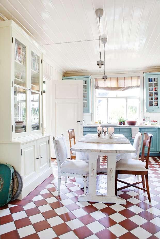 Kitchen in Norwegian cottage