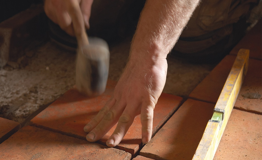 re-laying old tiles on a suitable layer of insulation