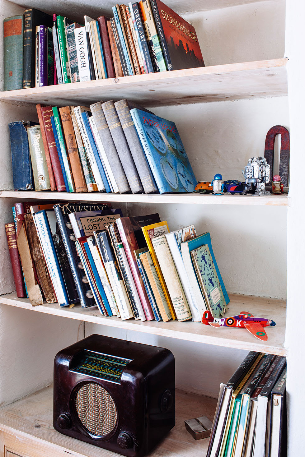 Bookcase in Irish stone cottage