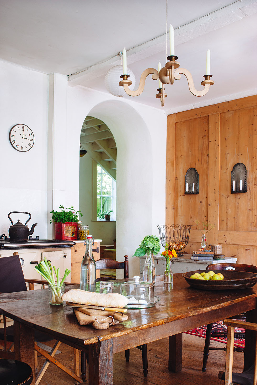 Dining area in Irish stone farmhouse
