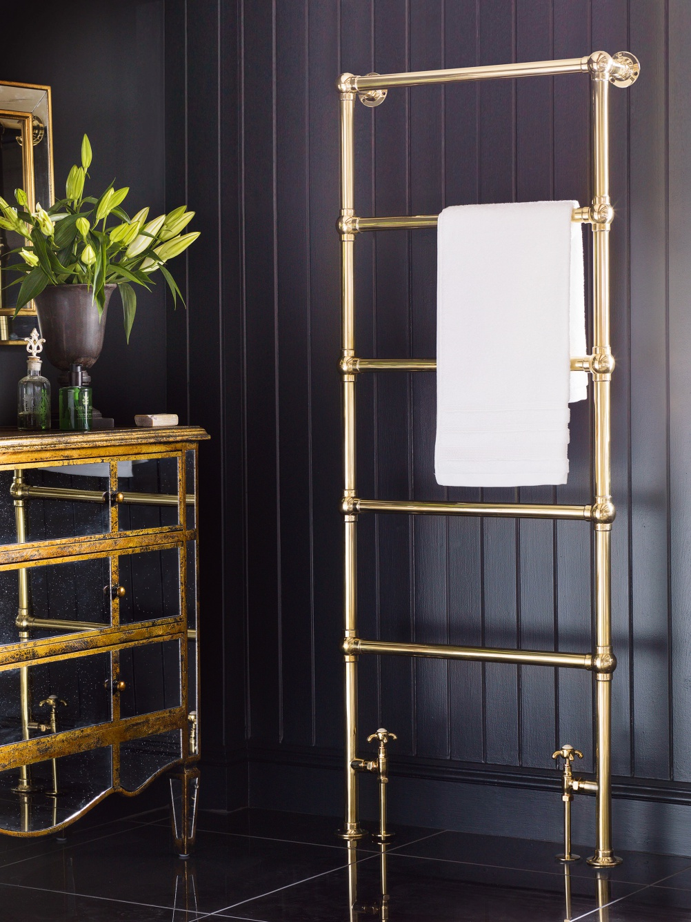 Heated towel rail from Catchpole & Rye
