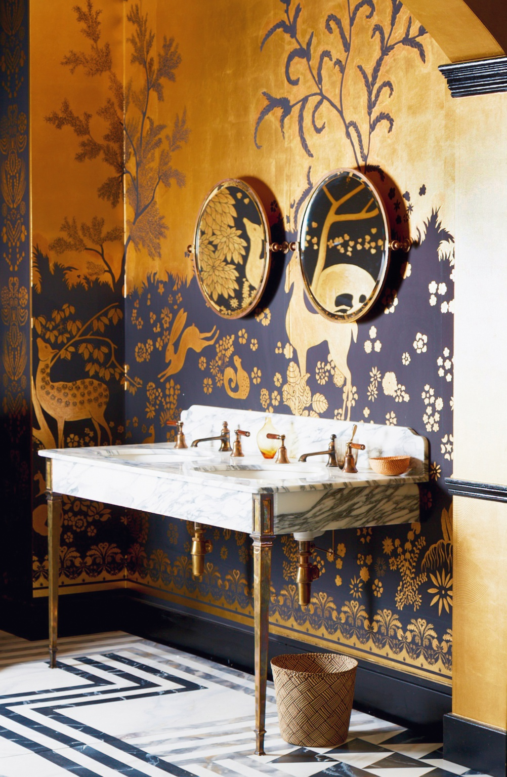 Double Hebdern vanity basin unit from Drummonds