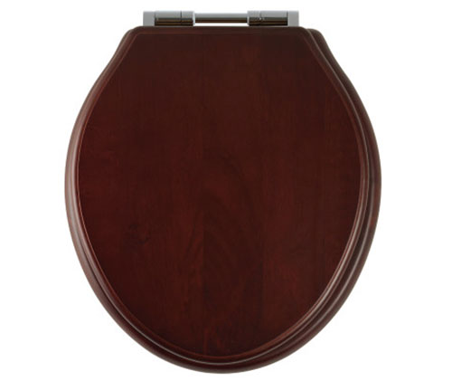 Edwardian-style-oval-Greenwich-Toilet-Seat-Mahogany-old-fashioned-bathrooms