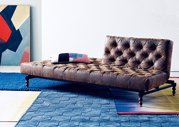 Chesterfield style Winks sofa bed from Heals Sofas