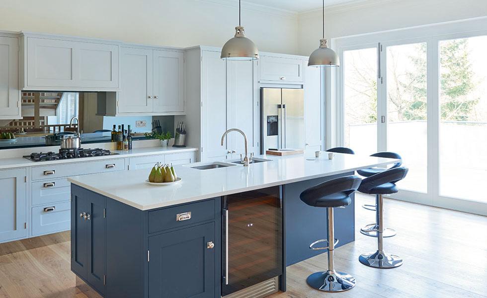 blue-kitchen-white-counter