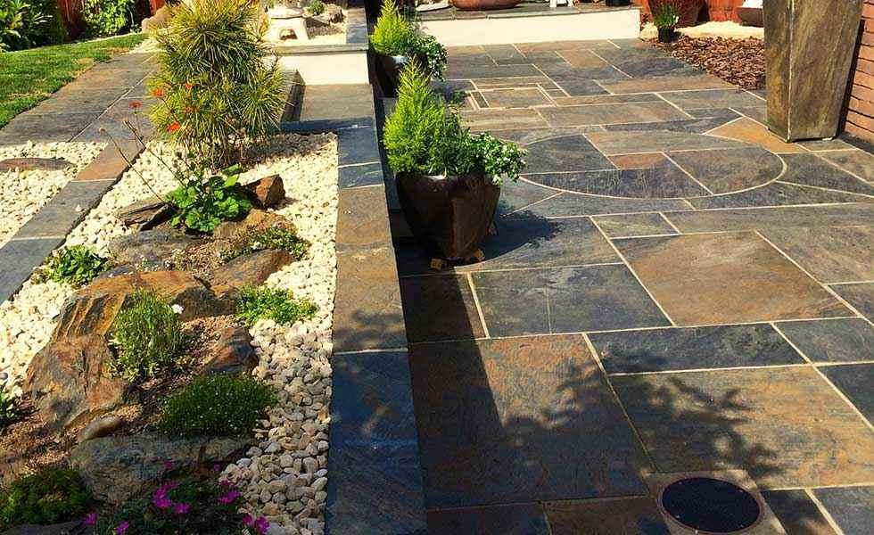 Nustone Rustic Copper Slate paving stones