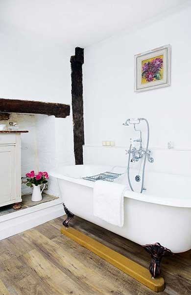 Farmhouse traditional bathroom renovation