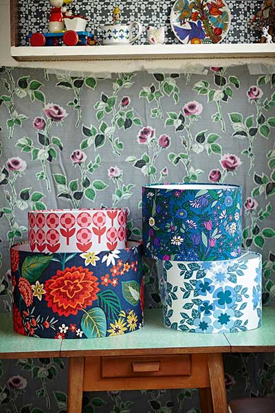 Victorian pattern house floral lampshades