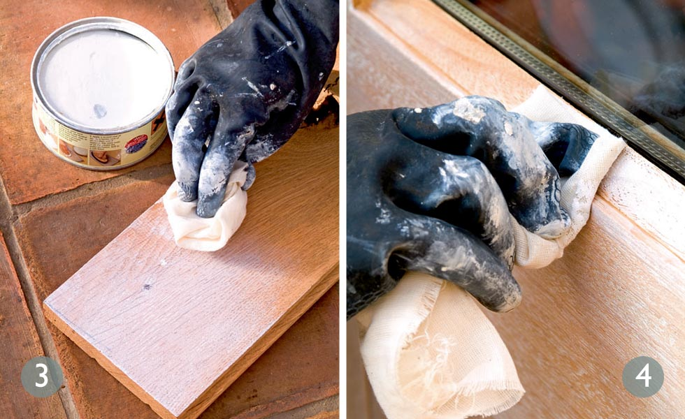 Experiment with the finish; Apply liming wax to clean wood