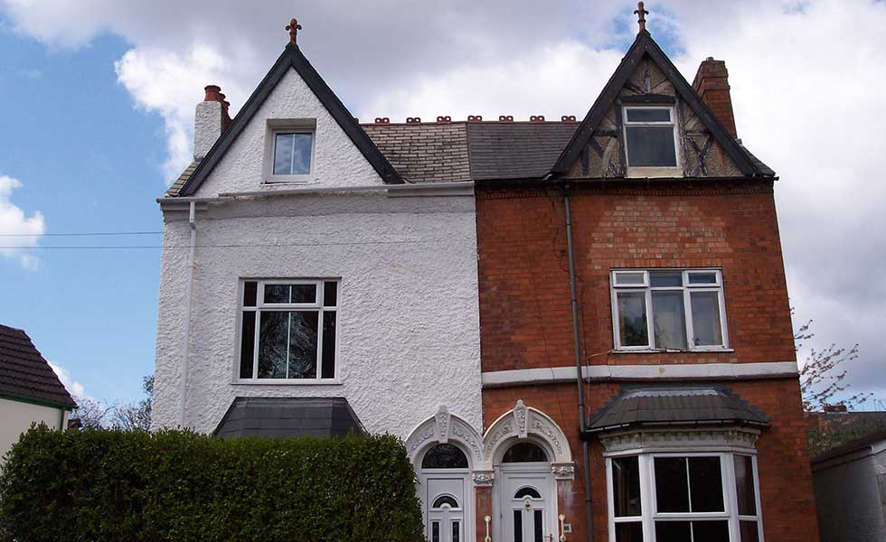 brickwork subsidence in Victorian semi-detached home