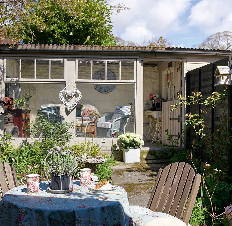 Stone Cottage Filled With Upcycled Finds