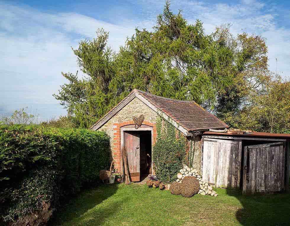 Garden rooms in a converted barn studio
