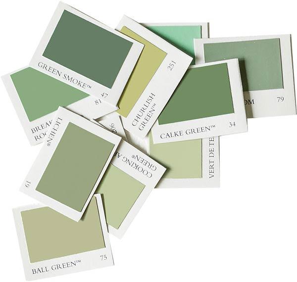 farrow and ball green colour palette