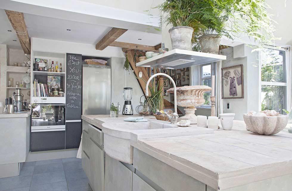 rural danish retreat kitchen units