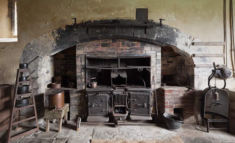 Old Kitchen at Chastleton House Oxfordshire