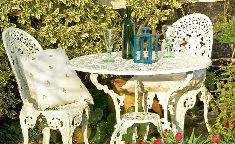 Metal garden furniture upcycling