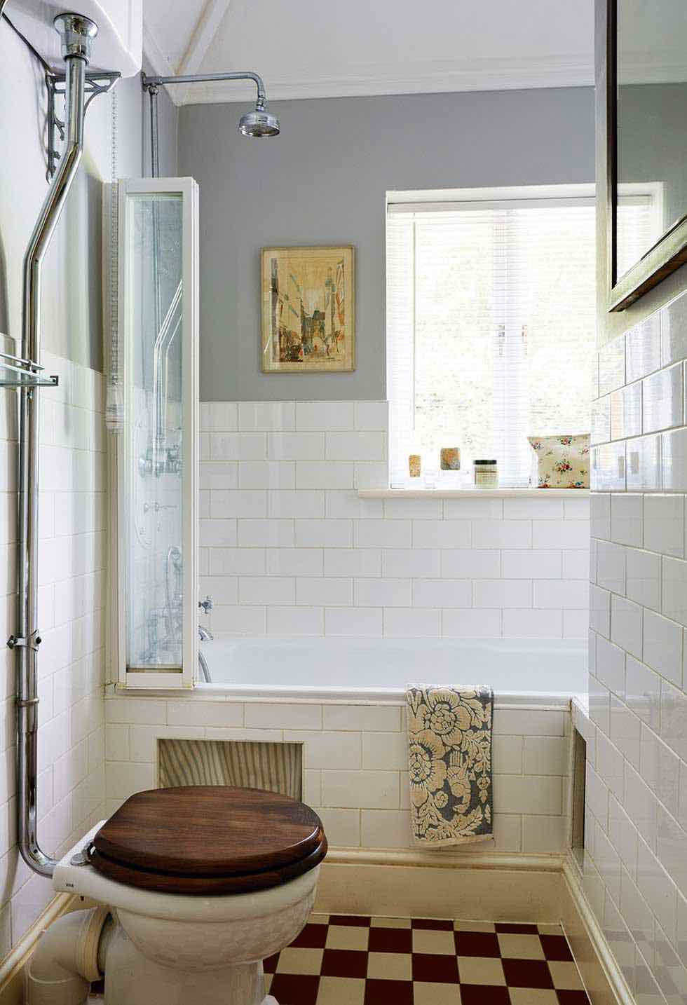 8 small but beautiful bathrooms period living for Historic bathroom designs
