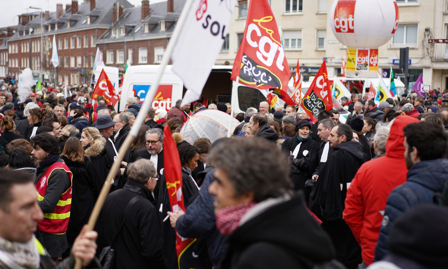 France's pension fight
