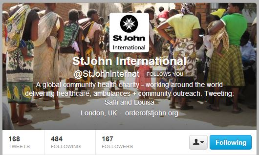 New branding for St John International created by marketing volunteer
