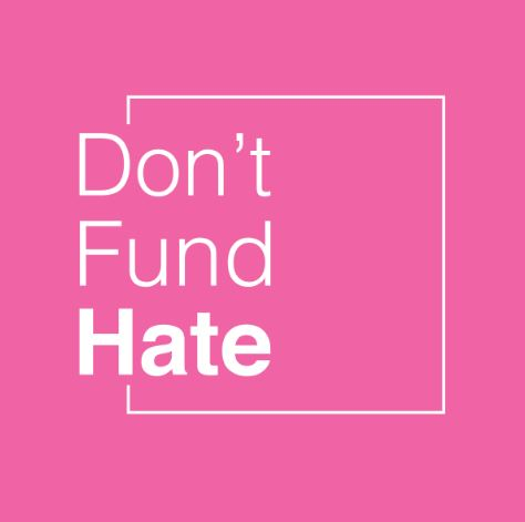 A logo designed for Dont Fund Hate Hero Image