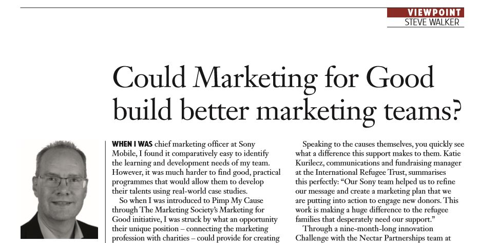 Could marketing for good build better marketing teams News Post Image