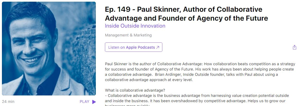 Paul Skinner interviewed on leading innovation podcast Hero Image