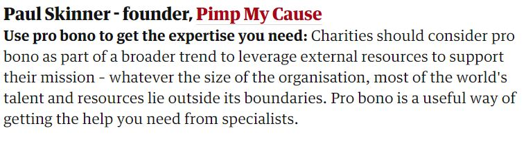 Guardian Q and A Getting the most out of pro bono work Best Bits News Post Image