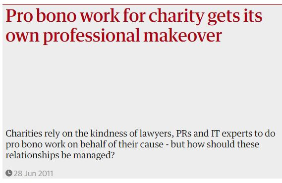 Pro bono work needs a professional makeover News Post Image