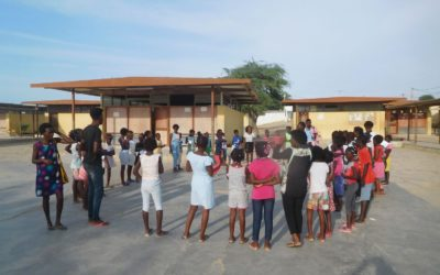 Semanas de diversão e aprendizagem em Benguela