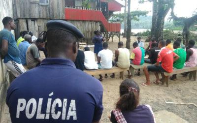 Polícia Nacional faz ações de sensibilização em Porto Alegre e Vila Malanza