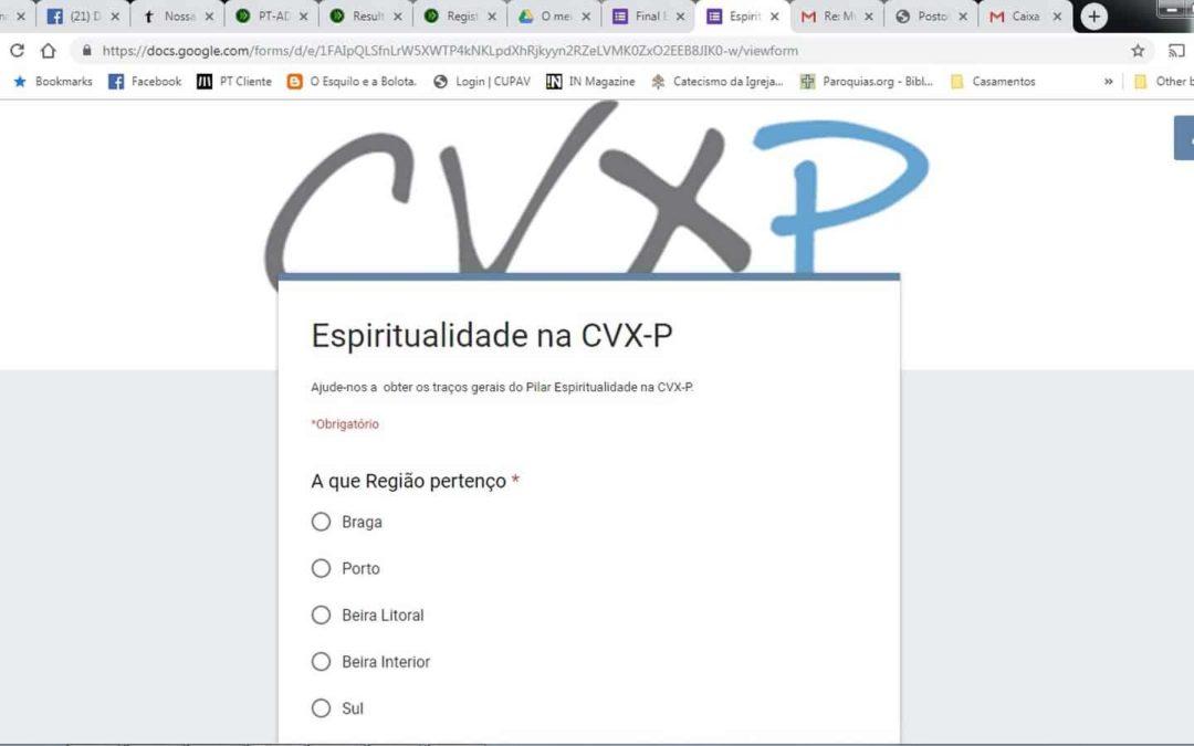 Já está a decorrer o inquérito sobre Espiritualidade à CVX-P