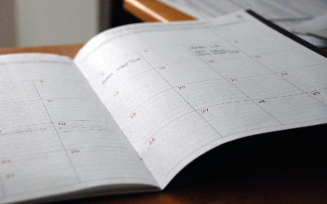 Calendário de Atividades da CVX-Sul