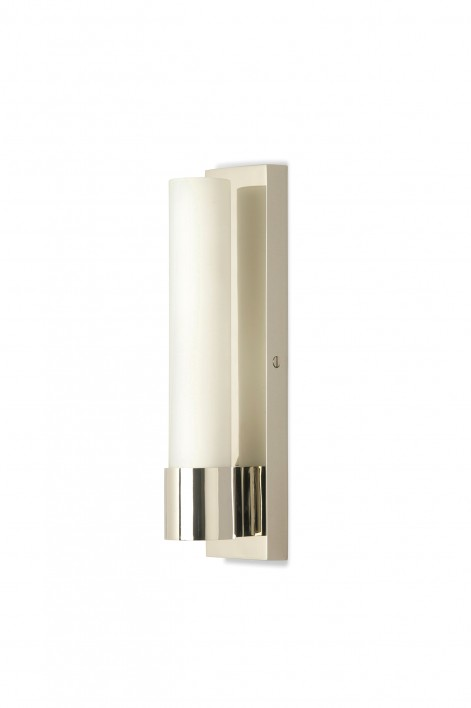 Emperor Bathroom Wall Light | Nickel with Glass
