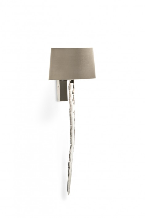 Icicle Bathroom Wall Light | Perspex with Nickel