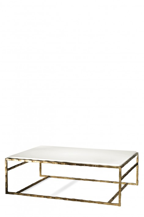 Giacometti Coffee Table | Versailles Gold with Faux Limestone top