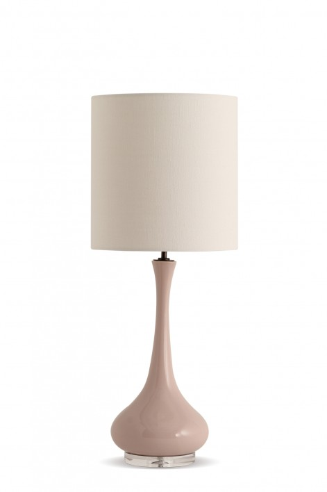 Grace Lamp | Dusty Pink with Perspex base