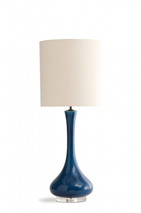 Grace Lamp | Peacock Blue with Perspex base