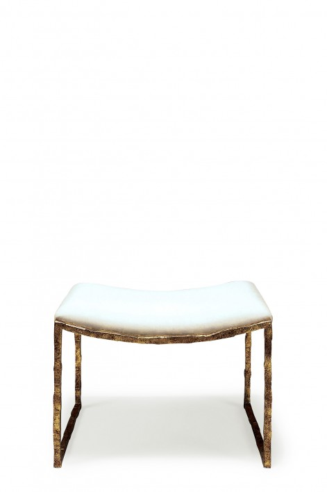 Giacometti Stool | Versailles Gold with covered seat pad