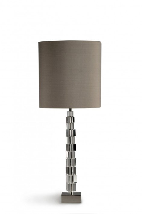 Large Lartigue Lamp | Clear with Nickel base