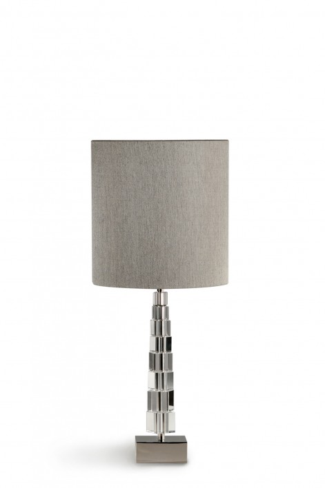 Small Lartigue Lamp | Clear with Nickel base