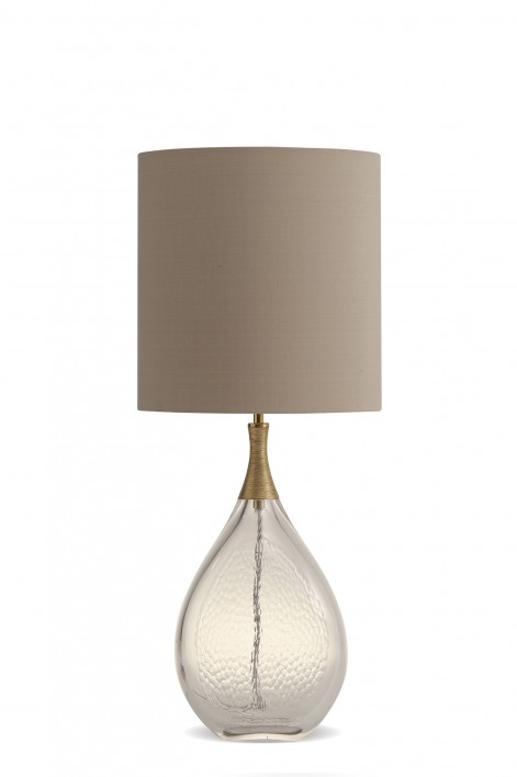 Droplet Lamp | Clear with Gold collar
