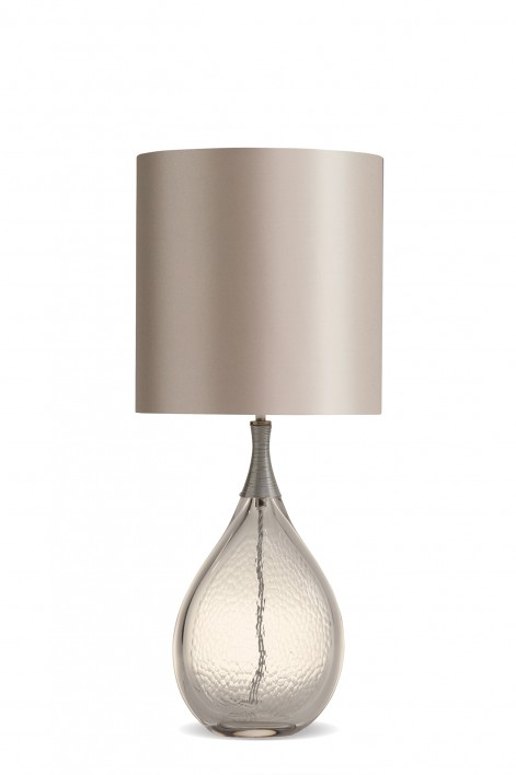 Droplet Lamp | Clear with Silver collar