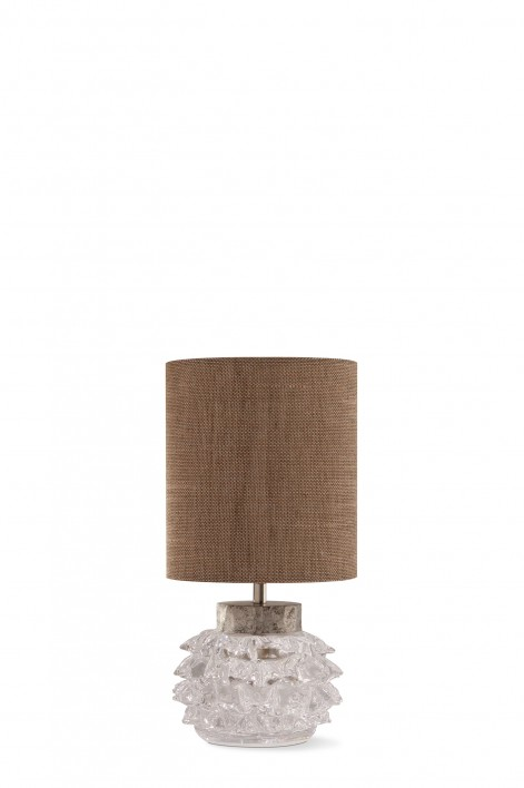 Hedgehog Lamp | Clear with Silver collar
