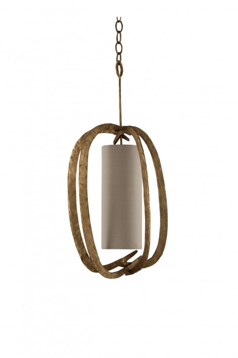 Miro Pumpkin Chandelier | French Brass