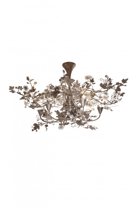 Large Ivy Shadow Chandelier | Forest Silver