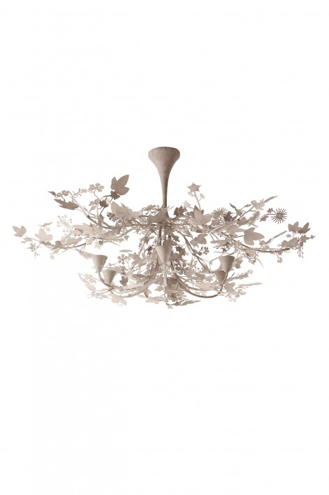 Large Ivy Shadow Chandelier | Forest White