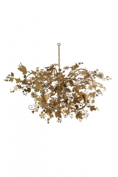Small Ivy Chandelier   Forest Gold